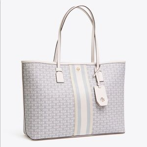 2019 Tory Burch Gemini link canvas new ivory tote